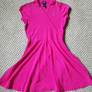 Ralph Lauren Pink Polo Sport Dress with side zip